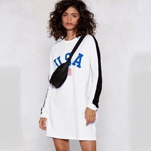 Nasty Gal Kids in America USA Sweatshirt Dress